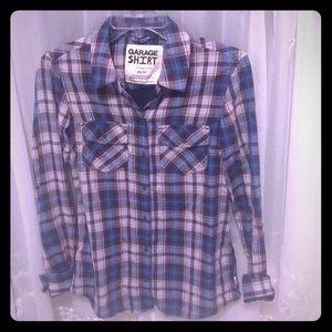Garage Classic Fit Plaid Shirt size XS